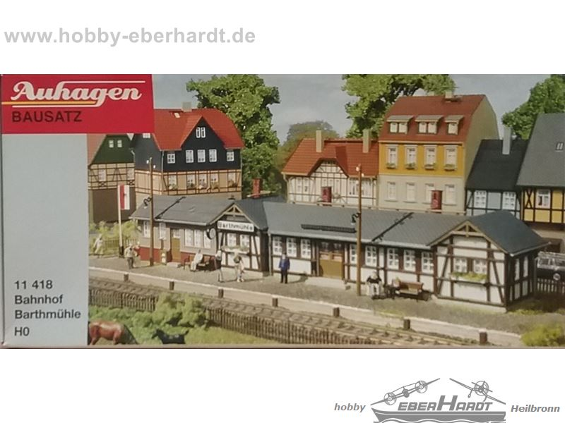 OVP neu Bahnhof Barthmühle Bausatz Spur H0 Auhagen 11418
